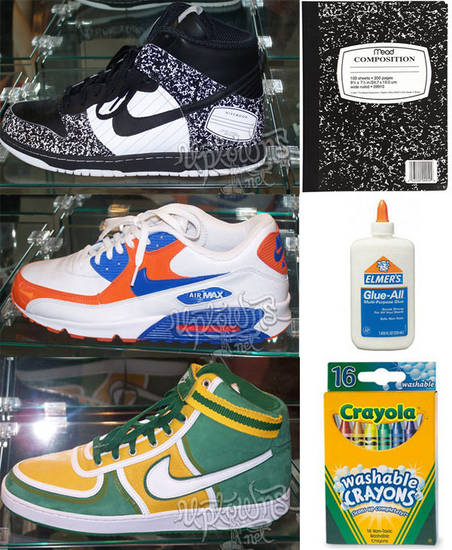 "the latest 3a357 90822 Heres a look at a ""Back to School"" pack set. Included in the pack is the Air  Max 90, the Dunk High and the Vandal High. The ""Notebook"" Dunk High  features ..."